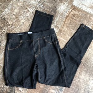 EUC Little dark faux denim leggings